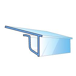 Profil tylny do łączenia z listwami DBR do półek szklanych i drewnianych.