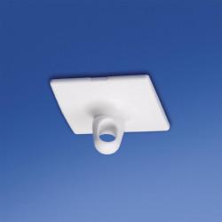Kwadratowy guzik samoprzylepny 31 mm x 31 mm z oczkiem obrotowym