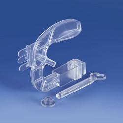 Imadło z prostopadłym mocowaniem prezentacji z trzema zębami