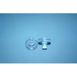 Podkładka do blatów szklanych Ø 10 mm, bezbarwna