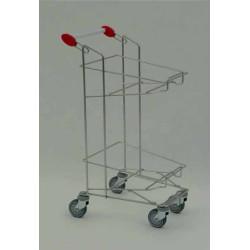 Wózek metalowy na dwa kosze sklepowe