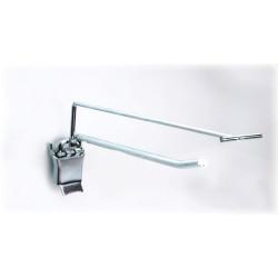 Hak do ścianki perforowanej pojedynczy z klapką i z wysięgnikiem Ø 4,8 mm.