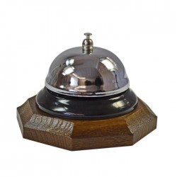 Dzwonek recepcyjny podstawa ośmiokątna ciemna