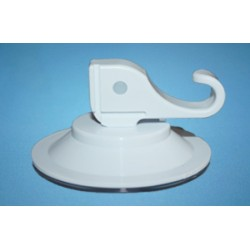 Suction cup Ø 50 mm with sauger lever plastic hook