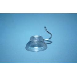 Przyssawka Ø 20 mm z metalowym haczykiem