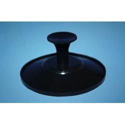 Przyssawka Ø 50 mm z montowanym uchwytem, czarna