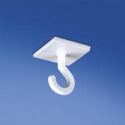 Kwadratowy guzik samoprzylepny 25 mm x 25 mm z otwartym haczykiem