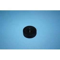 Nakrętka do przyssawek z gwintem, okrągła, czarna, gwint M4