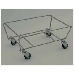 Wózek metalowy do koszy sklepowych