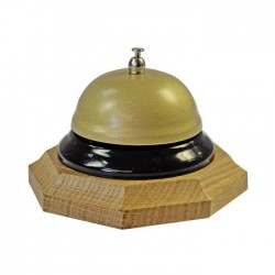 Dzwonek recepcyjny podstawa ośmiokątna jasna