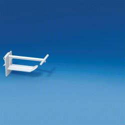 Hak plastikowy uniwersalny szeroki z dużym klipem na zawieszkę cenową