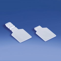 Etykieta na hak podwójny plastikowy lub metalowy pod naklejkę, drut Ø 3,0 mm