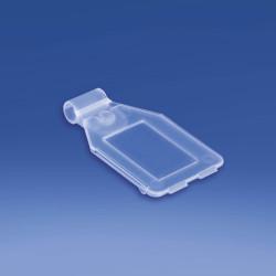 Etykieta na hak podwójny plastikowy lub metalowy z kieszonką, drut Ø 3,8 mm