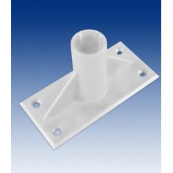 Adhesive holder 60° for tube 18/19 mm black